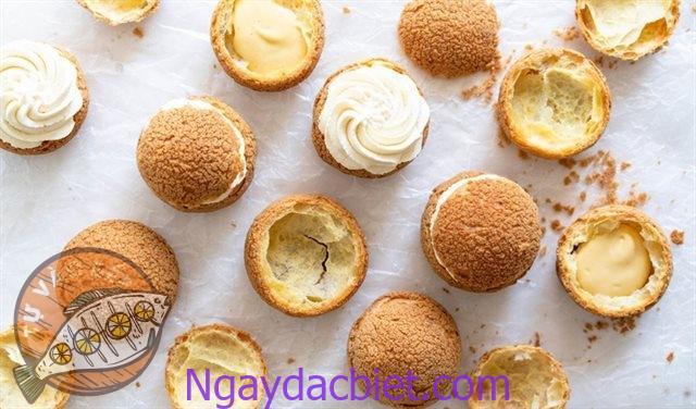 Hướng dẫn cách làm bánh su kem singapore chewy junior