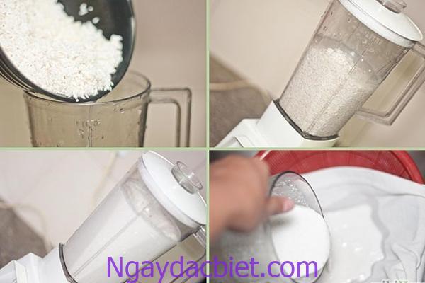 Xay nhuyễn bột gạo